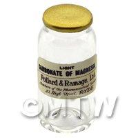 Miniature Light Carbonate of Magnesia Glass Apothecary Bulk Jar