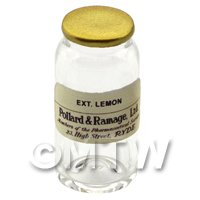 Miniature Ext. Lemon Glass Apothecary Bulk Jar