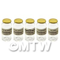 5 Miniature Glass Apothecary Bulk Storage Jars Set 6/7