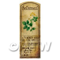 Dolls House Herbalist/Apothecary Goldenseal Herb Long Colour Label