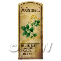 Dolls House Herbalist/Apothecary Goldenseal Herb Short Colour Label