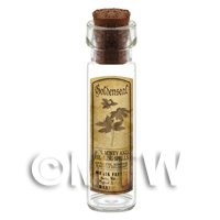Dolls House Apothecary Goldenseal Herb Long Sepia Label And Bottle