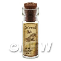 Dolls House Apothecary Goldenseal Herb Short Sepia Label And Bottle