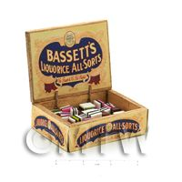 Dolls House Filled Bassets All-Sorts Shop Counter Display Box