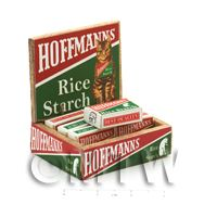 Dolls House Filled Hoffmanns Rice Starch Shop Counter Display Box