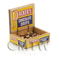 Dolls House Filled Packers Chocolate Drops Shop Counter Display Box