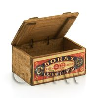 Dolls House Miniature - Dolls House Borax Extract of Soap Wooden Shop Display Box