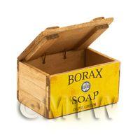 Dolls House Borax Olive Green Soap Wooden Shop Display Box