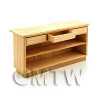 Dolls House Miniature Handmade Wooden Shop Counter