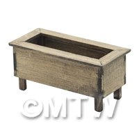 Dolls House Miniature Small Wooden Planter Aged