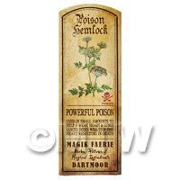 Dolls House Herbalist/Apothecary Hemlock Herb Long Colour Label