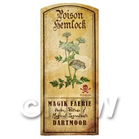 Dolls House Herbalist/Apothecary Hemlock Herb Short Colour Label