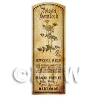 Dolls House Herbalist/Apothecary Hemlock Herb Long Sepia Label