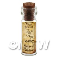 Dolls House Apothecary Hemlock Herb Short Sepia Label And Bottle