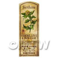 Dolls House Herbalist/Apothecary Henbane Herb Long Colour Label