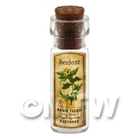 Dolls House Apothecary Henbane Herb Short Colour Label And Bottle