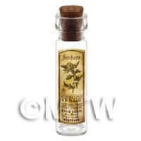 Dolls House Apothecary Henbane Herb Long Sepia Label And Bottle
