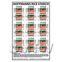 Dolls House Miniature Sheet of 9 Hoffmanns Rice Starch Boxes