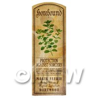 Dolls House Herbalist/Apothecary Horehound Herb Long Colour Label
