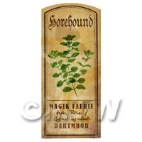 Dolls House Herbalist/Apothecary Horehound Herb Short Colour Label