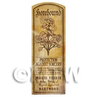 Dolls House Herbalist/Apothecary Horehound Herb Long Sepia Label