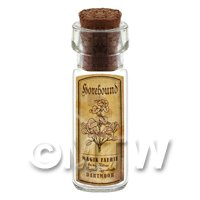 Dolls House Apothecary Horehound Herb Short Sepia Label And Bottle