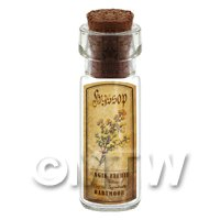Dolls House Apothecary Hyssop Herb Short Colour Label And Bottle