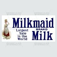 Dolls House Miniature Milkmaid Milk Shop Sign Circa 1910