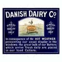 Dolls House Miniature Danish Dairy Shop Sign Circa 1890