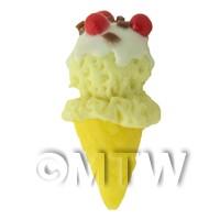 Dolls House Miniature Large Vanilla Ice Cream Cone
