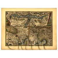 Dolls House Miniature Old Map Of Italian States From The Late 1500s