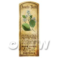 Dolls House Herbalist/Apothecary Jesuits Bark Herb Long Colour Label