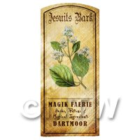 Dolls House Herbalist/Apothecary Jesuits Bark Herb Short Colour Label