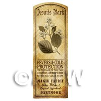 Dolls House Herbalist/Apothecary Jesuits Bark Herb Long Sepia Label