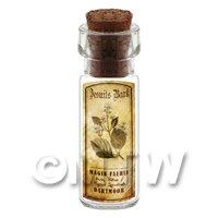 Dolls House Apothecary Jesuits Bark Herb Short Sepia Label And Bottle