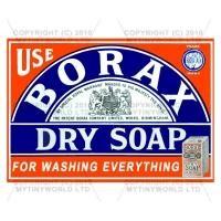 Dolls House Miniature Borax Dry Soap Shop Sign Circa 1890