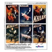 Dolls House Miniature Kellar Magic Poster Set 2 - Set of 6 Wall Posters
