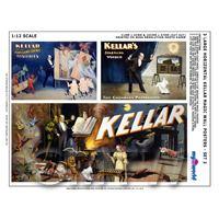 Dolls House Miniature Kellar Magic Poster Set 3 - Set of 3 Long Posters