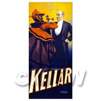 Dolls House Miniature Kellar Magic Poster - Toasting The Devil