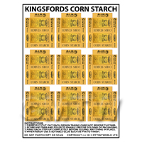 Dolls House Miniature sheet of 9 Kingsford Corn Starch Boxes