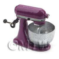 Deep Purple Dolls House Miniature Old Style Batter / Dough Mixer
