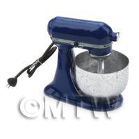 Navy Blue Dolls House Miniature Old Style Batter / Dough Mixer