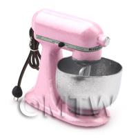 Metallic Pink Dolls House Miniature Old Style Batter / Dough Mixer