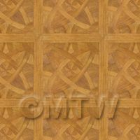 Dolls House Miniature - Dolls House La Rochelle Large Panel Parquet Wood Effect Flooring