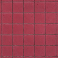 Handmade Red Kitchen Large Tile Dolls House Cladding