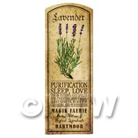 Dolls House Herbalist/Apothecary Lavender Herb Long Colour Label