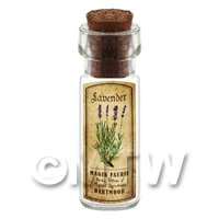 Dolls House Apothecary Lavender Herb Short Colour Label And Bottle