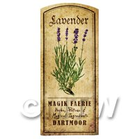 Dolls House Herbalist/Apothecary Lavender Herb Short Colour Label