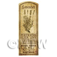 Dolls House Herbalist/Apothecary Lavender Herb Long Sepia Label