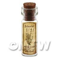 Dolls House Apothecary Lavender Herb Short Sepia Label And Bottle